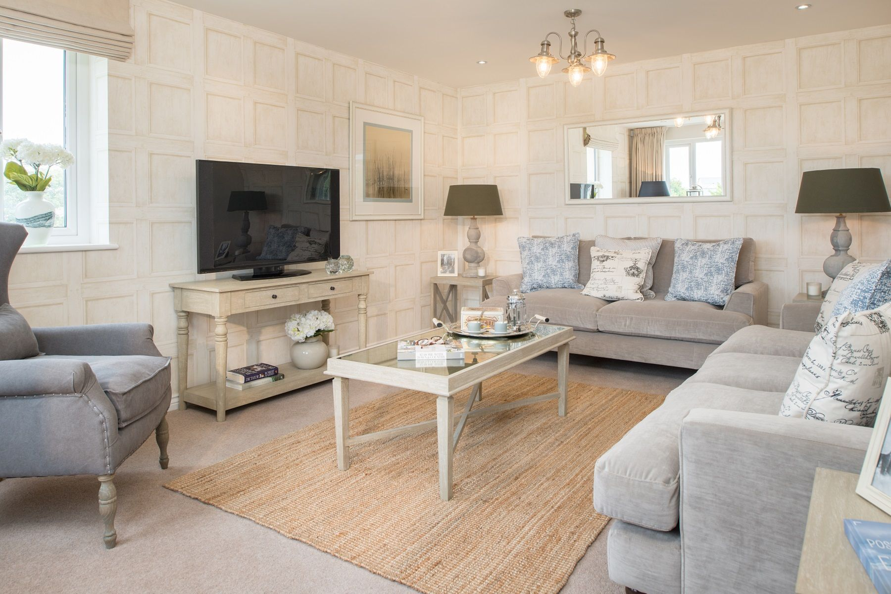 Hele Park Kennilworth example living room